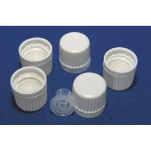 Tamper Evident Cap with Pourer Insert White (Set of 5)